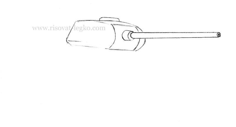 03.Как нарисовать танк т 34 карандашом поэтапно