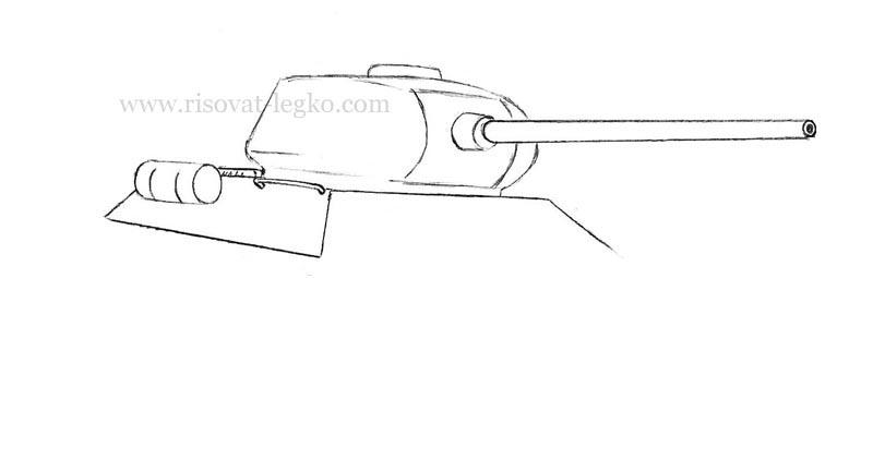 04.Как нарисовать танк т 34 карандашом поэтапно