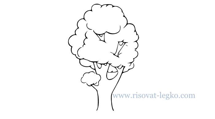 01.Как рисовать дерево поэтапно для начинающих