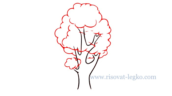 05.Как рисовать дерево поэтапно для начинающих