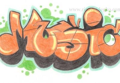10.Как рисовать граффити карандашом поэтапно