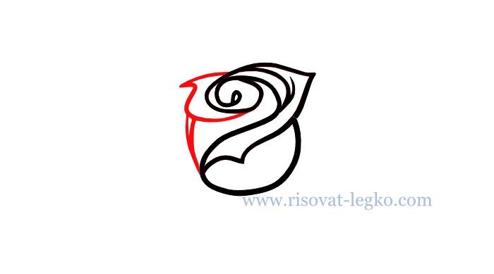 04.Как рисовать розу поэтапно карандашом