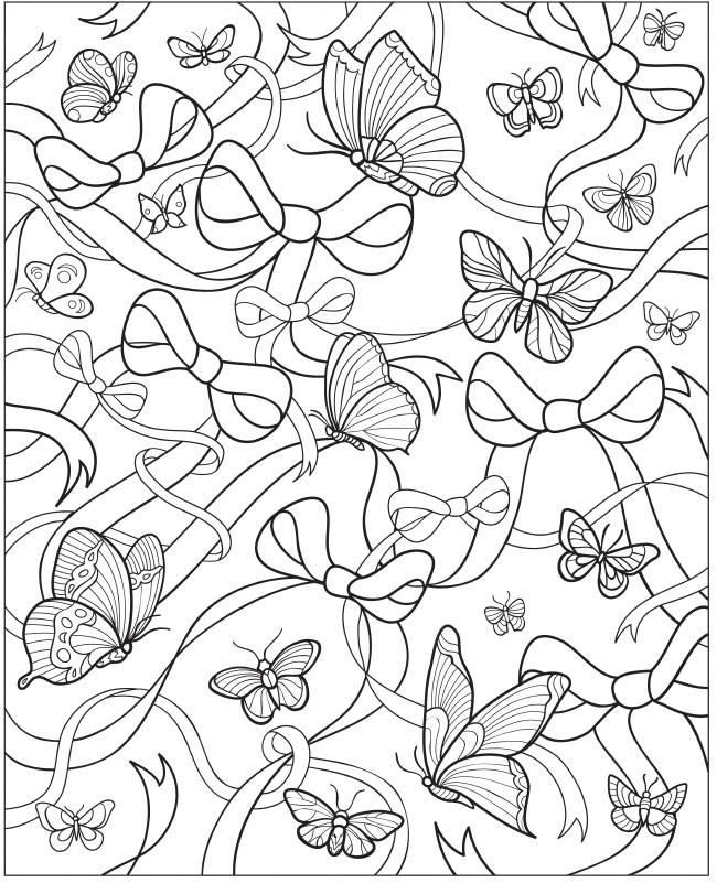 for Beautiful butterfly coloring pages