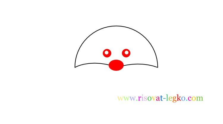 03.Рисование для детей поэтапно: как рисовать енота