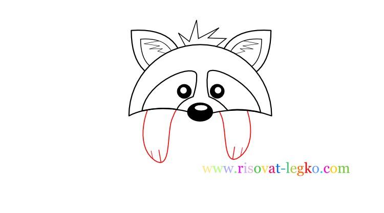 06.Рисование для детей поэтапно: как рисовать енота