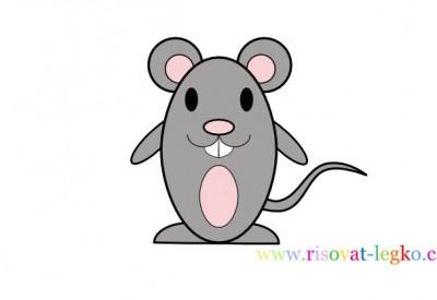 01.Рисование карандашом для детей – нарисуем мышку