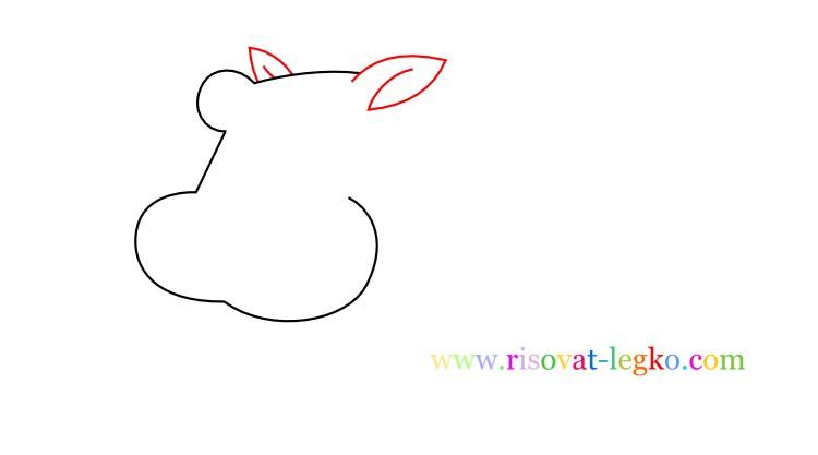 04.Рисование с детьми: рисуем симпатичного бегемота