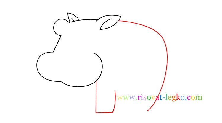 05.Рисование с детьми: рисуем симпатичного бегемота
