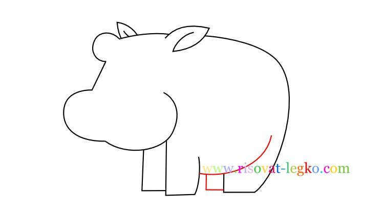 07.Рисование с детьми: рисуем симпатичного бегемота