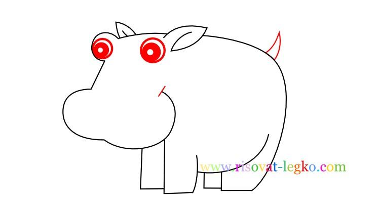 08.Рисование с детьми: рисуем симпатичного бегемота
