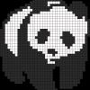 13.Рисунки по клеточкам панда