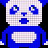16.Рисунки по клеточкам панда