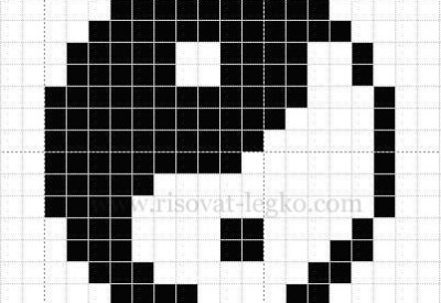 01.Рисунки по клеточкам в тетради: красивые схемы
