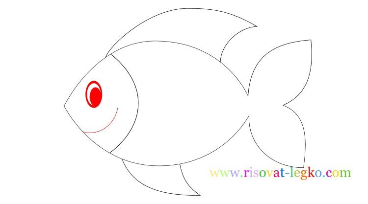 07.Урок рисования для детей: рисуем рыбку легко!