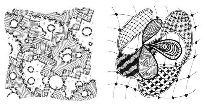 01.Зентангл что это такое: техника рисования Zentangle