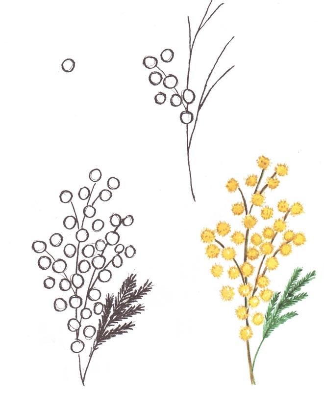 Весенние цветы рисовать