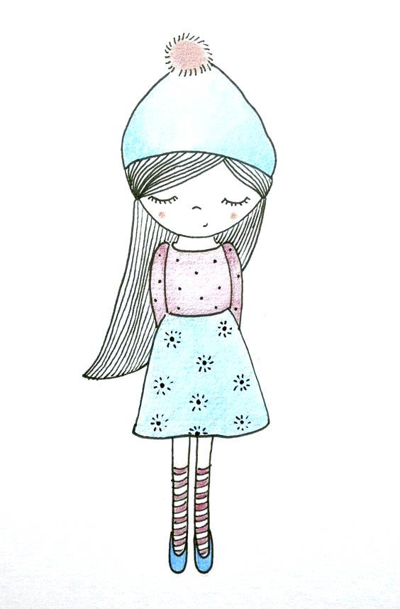 Картинки для срисовки девушки в стиле тумблер